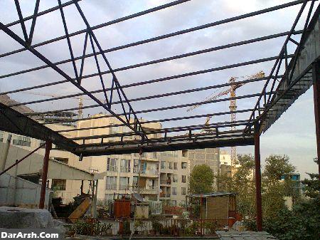 اجرای سقف شیبدار-پوشش سقف شیبدار-آردواز-پوشش سوله